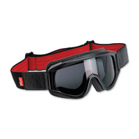 Biltwell Inc. Overland Black/Red Goggles with Smoke Lens