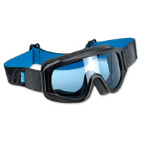 Biltwell Inc. Overland Black/Blue Goggle with Blue Lens