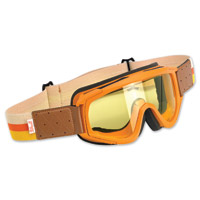 Biltwell Inc. Overland Orange/Brown Goggle with Yellow Lens