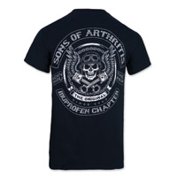 Sons of Arthritis Men's Skulls & Pistons Black T-Shirt