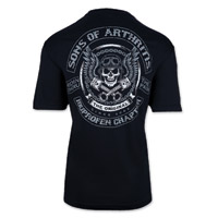 Sons of Arthritis Skulls & Pistons Men's Black Dri-Fit T-shirt