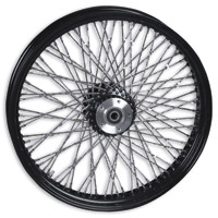 Paughco Black Twisted 80-Spoke Front Wheel, 21″ x 3.5″
