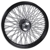 Paughco Black Twisted 80-Spoke Front Wheel, 21″ x 3.5″