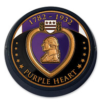 MotorDog69 Black Universal Set Screw Mount with Purple Heart Coin