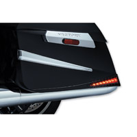 Kuryakyn Gloss Black L.E.D. Saddlebag Extensions