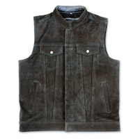 Crank & Stroker Supply Men's Billy Club Black Leather Vest