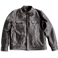 Crank & Stroker Supply Men's Breaker Black Leather Jacket