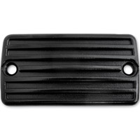 Lowbrow Customs Black Finned Front Master Cylinder Cover