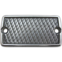 Lowbrow Customs Semi Polished Fish Scale Front Master Cylinder Cover