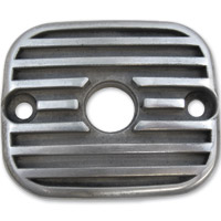 Lowbrow Customs Finned Semi Polished Front Master Cylinder Cover