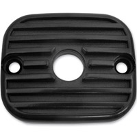 Lowbrow Customs Finned Black Front Master Cylinder Cover