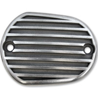 Lowbrow Customs Semi Polished Finned Front/Rear Master Cylinder Cover