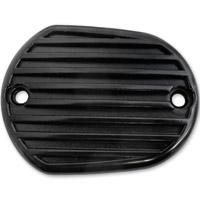 Lowbrow Customs Black Finned Front/Rear Master Cylinder Cover