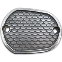 Lowbrow Customs Black Fish Scale Front/Rear Master Cylinder Cover