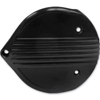 Lowbrow Customs Black Finned Cast Air Cleaner Cover