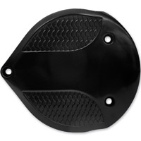 Lowbrow Customs Black Fish Scale Cast Air Cleaner Cover