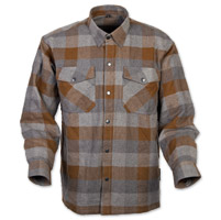 Scorpion EXO Men's Covert Tan/Brown Flannel Shirt