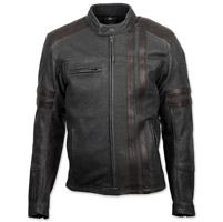 Scorpion EXO Men's 1909 Distressed Black Leather Jacket