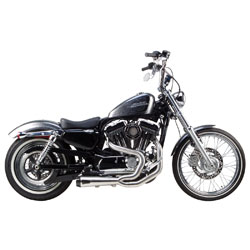 Two Brothers Racing Comp-S 2-1 Brush Stainless Steel Exhaust with Carbon Fiber Tip
