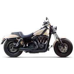 Two Brothers Racing Comp-S 2-1 Ceramic Black Stainless Steel Exhaust with Carbon Fiber Tip