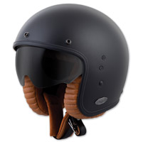 Scorpion EXO Belfast Solid Matte Black Open Face Helmet