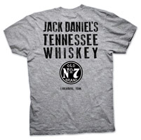 Jack Daniel's  Men's Tennessee Whiskey Brand Gray T-Shirt