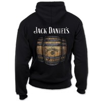 Jack Daniel's Men's Whiskey Barrel Black Hoodie