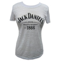 Jack Daniel's Women's 1866 Label White Burnout T-Shirt