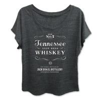 Jack Daniel's Women's Sour Mash Whiskey Gray Dolman T-Shirt