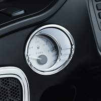 Kuryakyn Tri-Line Chrome Fuel & Voltage Gauge Bezels