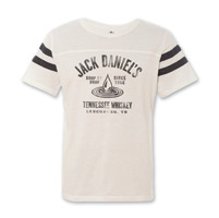 Jack Daniel's Men's Drop by Drop White Football Tee