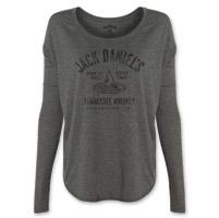 Jack Daniel's Women's Drop by Drop Gray Long-Sleeve T-Shirt