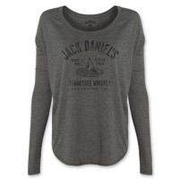 Jack Daniel's Women's Drop by Drop Gray Long-Sleeve T-Shirt