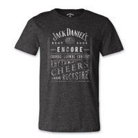 Jack Daniel's Men's Music Charcoal T-Shirt