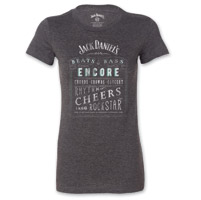 Jack Daniel's Women's Music Gray T-Shirt