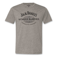 Jack Daniel's Men's Single Barrel Gray T-Shirt
