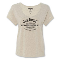 Jack Daniel's Women's Single Barrel Gray Triblend T-Shirt