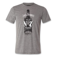 Jack Daniel's Men's Old #7 Bottle Gray T-Shirt