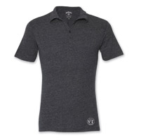 Jack Daniel's Men's Label Black Triblend Polo