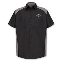 Jack Daniel's Men's Color Block Gray Work Shirt