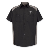 Jack Daniel's Men's Color Block Gray Work Shirt