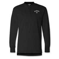 Jack Daniel's Men's Label Black Henley Long-Sleeve Shirt