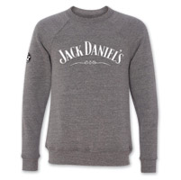 Jack Daniel's Men's and Women's Gray Crewneck Sweatshirt