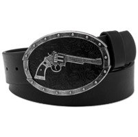 Westside Accessories Men's Antique Colt .45 Black Leather Belt