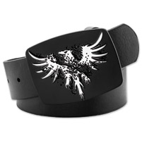 Westside Accessories Men's Eagle Black Leather Belt