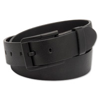 Westside Accessories Men's Black Out Matte Leather Belt