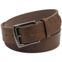 Westside Accessories Men's Antique Buckle Brown Belt