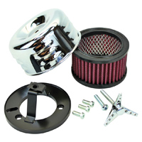 TC Bros. Choppers Chrome Louvered Air Cleaner Kit