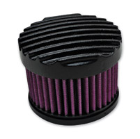 TC Bros. Choppers Finned Black Air Cleaner Kit