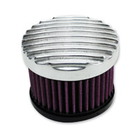 TC Bros. Choppers Finned Polished Air Cleaner Kit